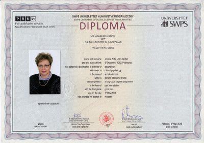 Jolanta-Uran-Gędłek_certyfikat_psychologia