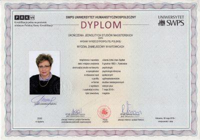 Jolanta-Uran-Gędłek_certyfikat_psychologia_pl